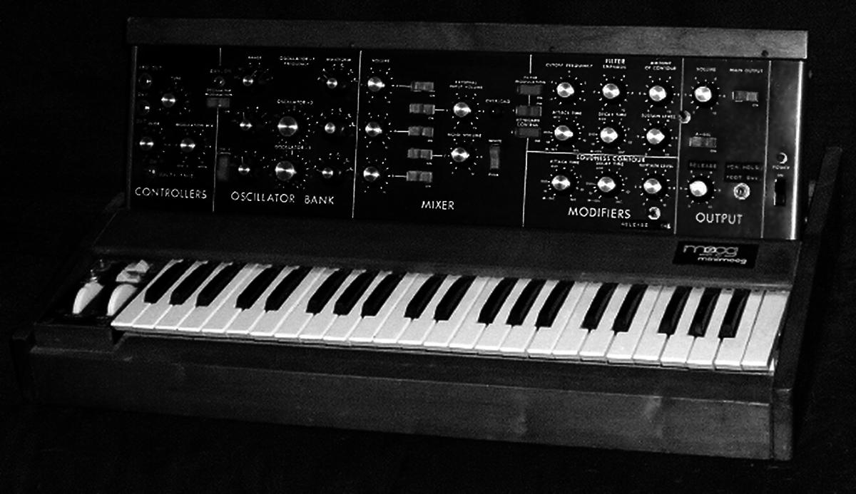 Minimoog synthesiser from the early 1970s