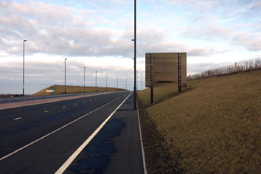 Unopened road, North Tyneside 2009