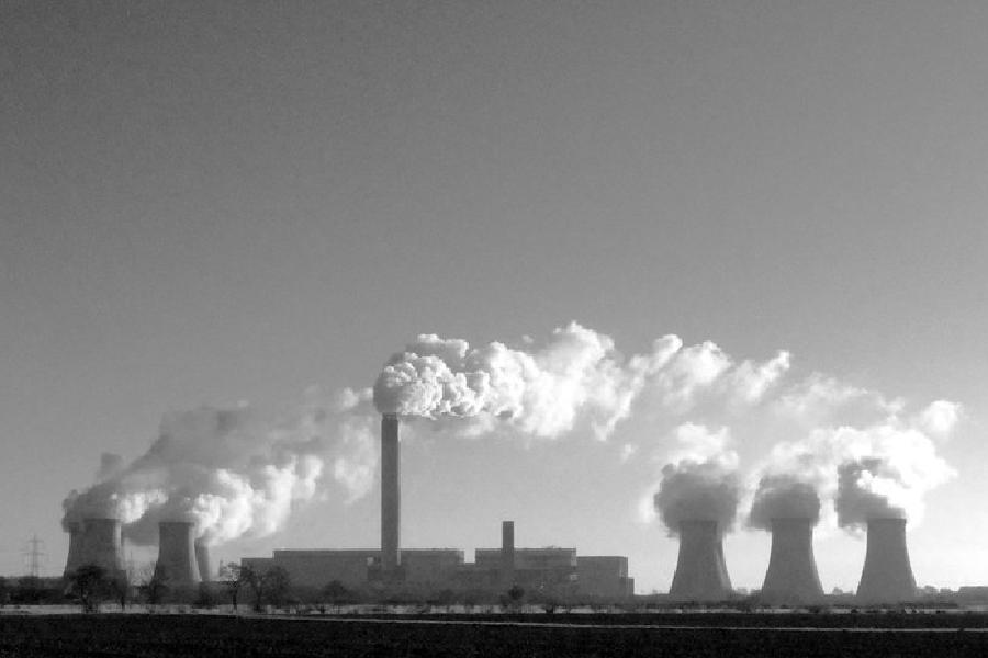 Drax Power Station. Historically a coal-fired power station, it is in the process to switching over to biomass as it primary fuel source